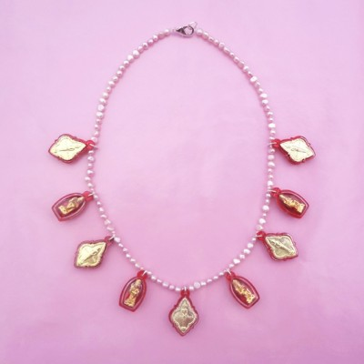 31 necklace buddha red OK 72 - kopie