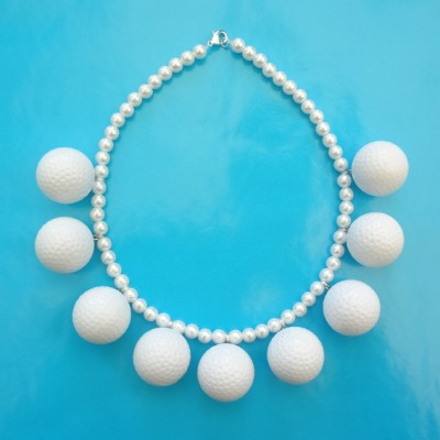 32 necklace golf ball on blue 72