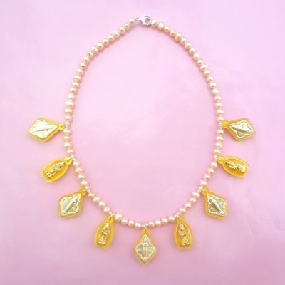 33 necklace buddha yellow OK 72 - kopie