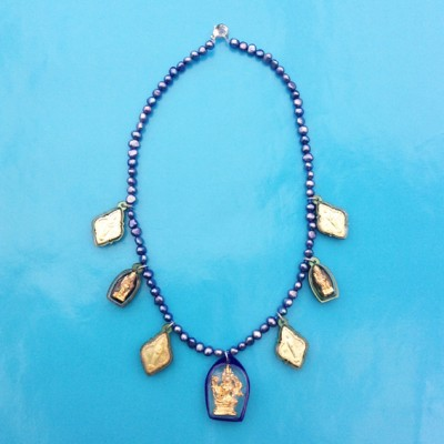 34 necklace buddha bluegreen 72 - kopie