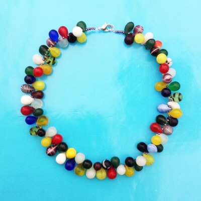 37 necklace glass drop color mini 72 - kopie