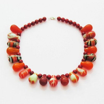 41 necklace drop red 72 - kopie