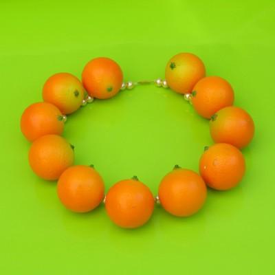 41 necklace orange round 72