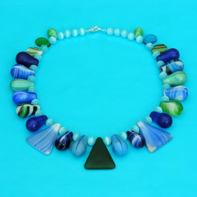 42 necklace glass drop blue 2 72 - kopie