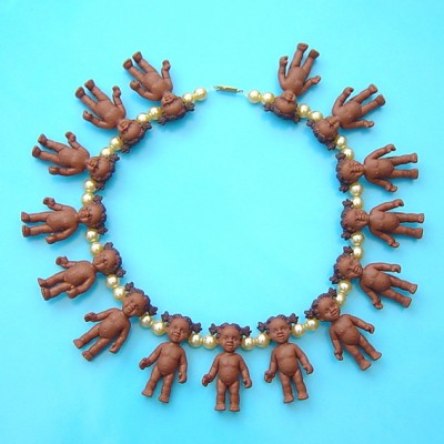 42necklace doll brown