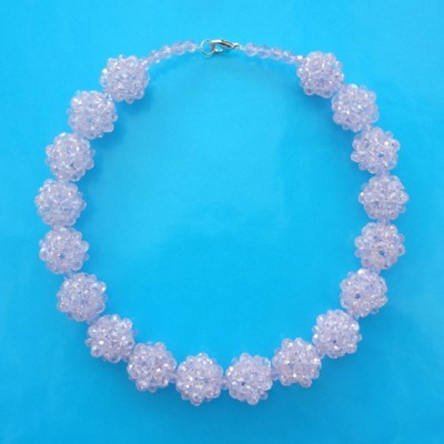 5 necklace shine ball pink 72 - kopie