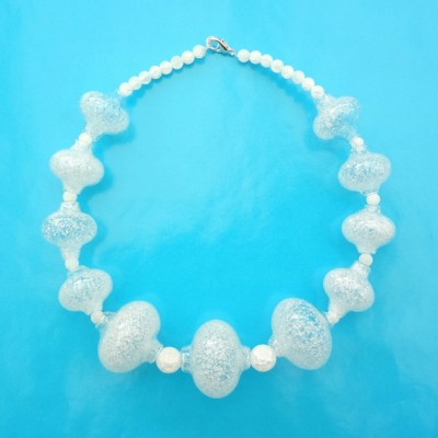 51 necklace glass white cristal 72 - kopie