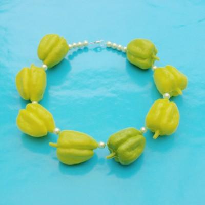 51 necklace paprika lightgreen 72