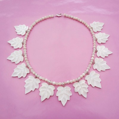 52 necklace leafs shell 72 - kopie