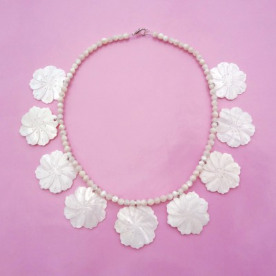 54 necklace shell flower 72 - kopie