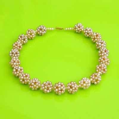 55 necklace pearl softpink ball 72 - kopie