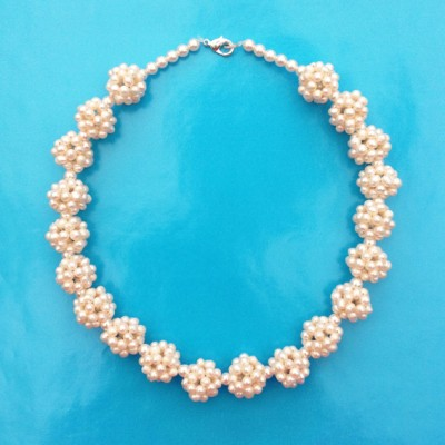 56 necklace pearlball creme 72 - kopie