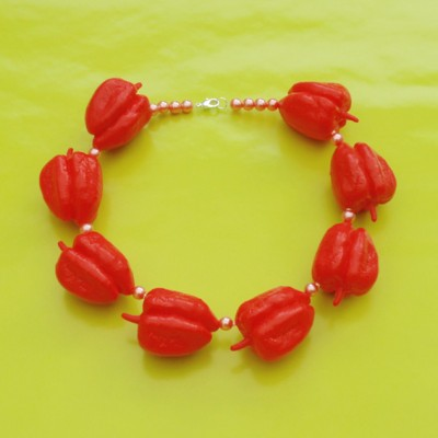 59 necklace paprika red 72