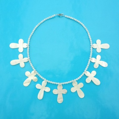 59 necklace shell cross 72 - kopie