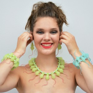 6 necklace rat green 1 72