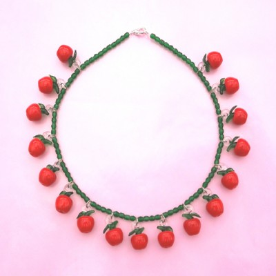 64 necklace glass apple 72 - kopie