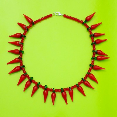 71 necklace glass redpepper 72 - kopie