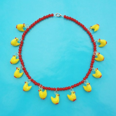 74 necklace glass chicken 72 - kopie