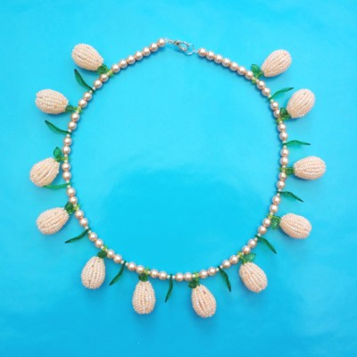 76 necklace pink  fruitpearl 72 - kopie