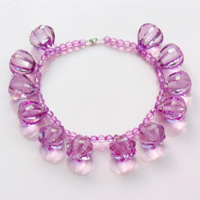 8 necklace shine purple 72 - kopie