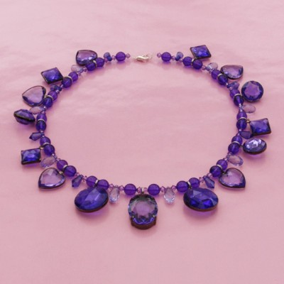 86necklace purple little shine 72 - kopie