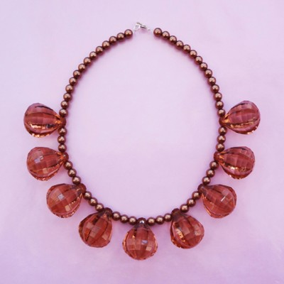 9 necklace shine brown 72 - kopie