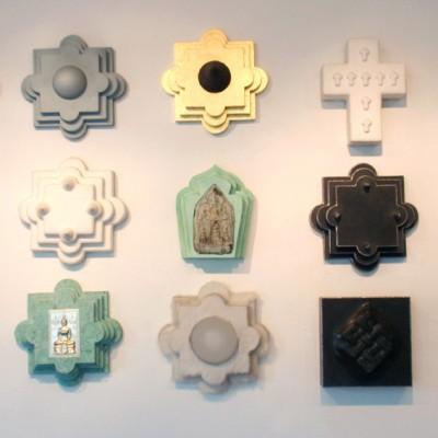 9 symbolen muur 9x 72