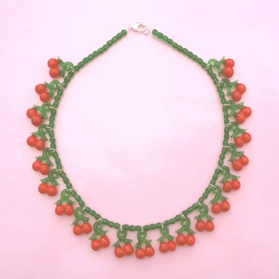96 necklace glass cherry 72