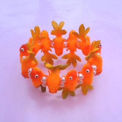 bracelet fish orangegreen 72