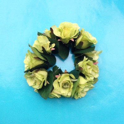 bracelet flower silk green light 72
