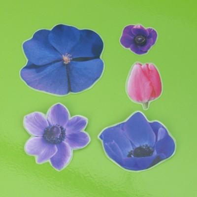 brooch flower 5x purple 72