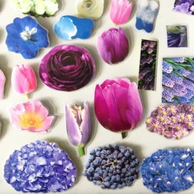 brooch flower purple group 72