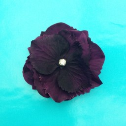 brooch flower silk darkpurple 72