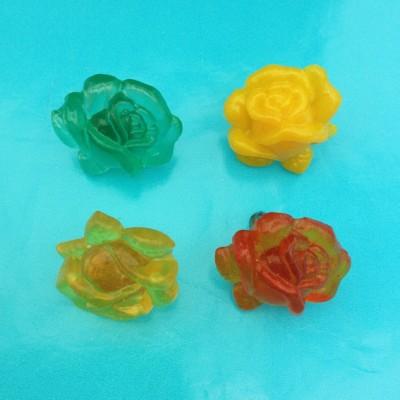 brooch resin rose 4 x 72