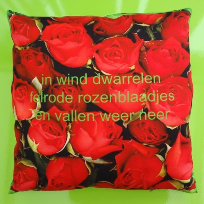 cushion roses red 72 kopie