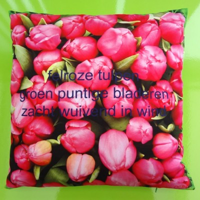 cushion tulips pink 72 kopie