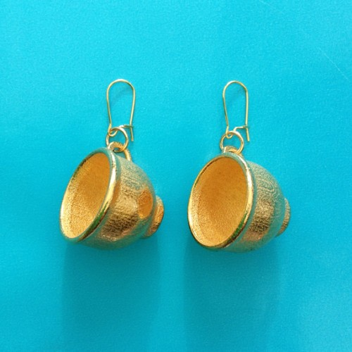 earring cup gold 72