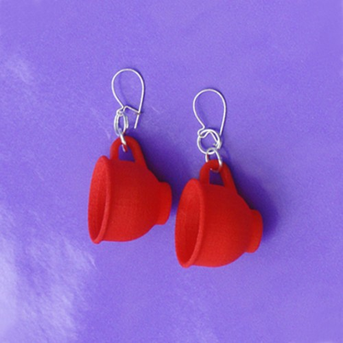 earring cup red 72