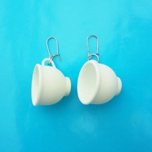 earring cup white 72