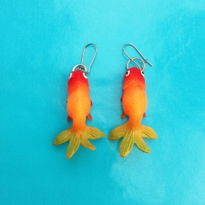 earring fish orangegreen 72