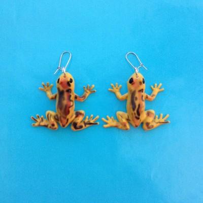 earring frog brownspot 72