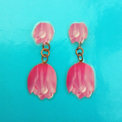 earring lam tulips pink 72
