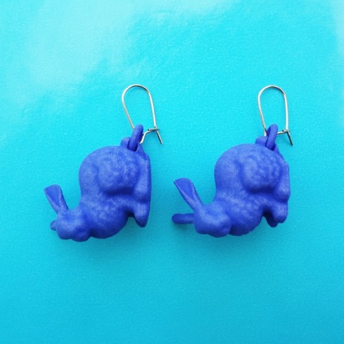 earring rabbit blue 72