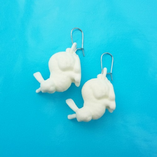 earring rabbit white 72