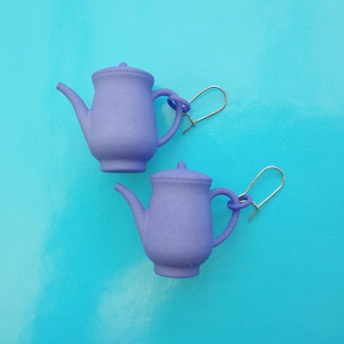 earring teapot purple 72