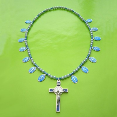 hals kruis blauw maria blauw 72