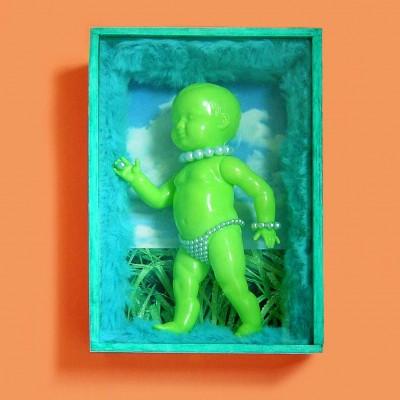 kunstkistje pop groen vierkant