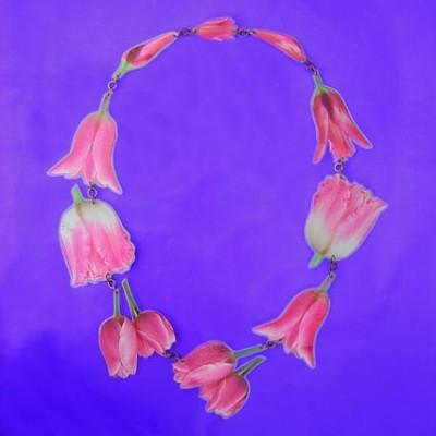 lam hals roze tulp