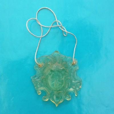 necklace face resin transparent 72