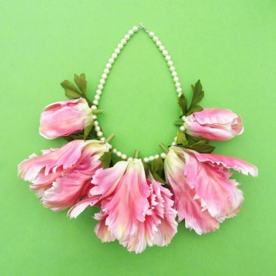 necklace flower silk tulip 72